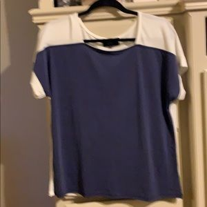 COA Navy & white ciolor blocked top.